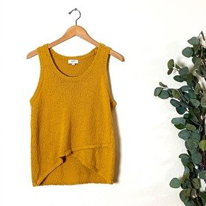 LOFT Mustard Knit Tank Size Large EUC